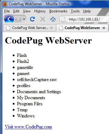 Zune Web Server Browser